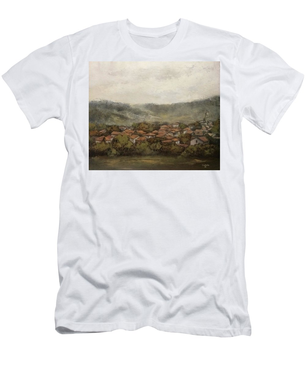 Cantabria T-Shirt featuring the painting Novales-Cantabria by Tomas Castano