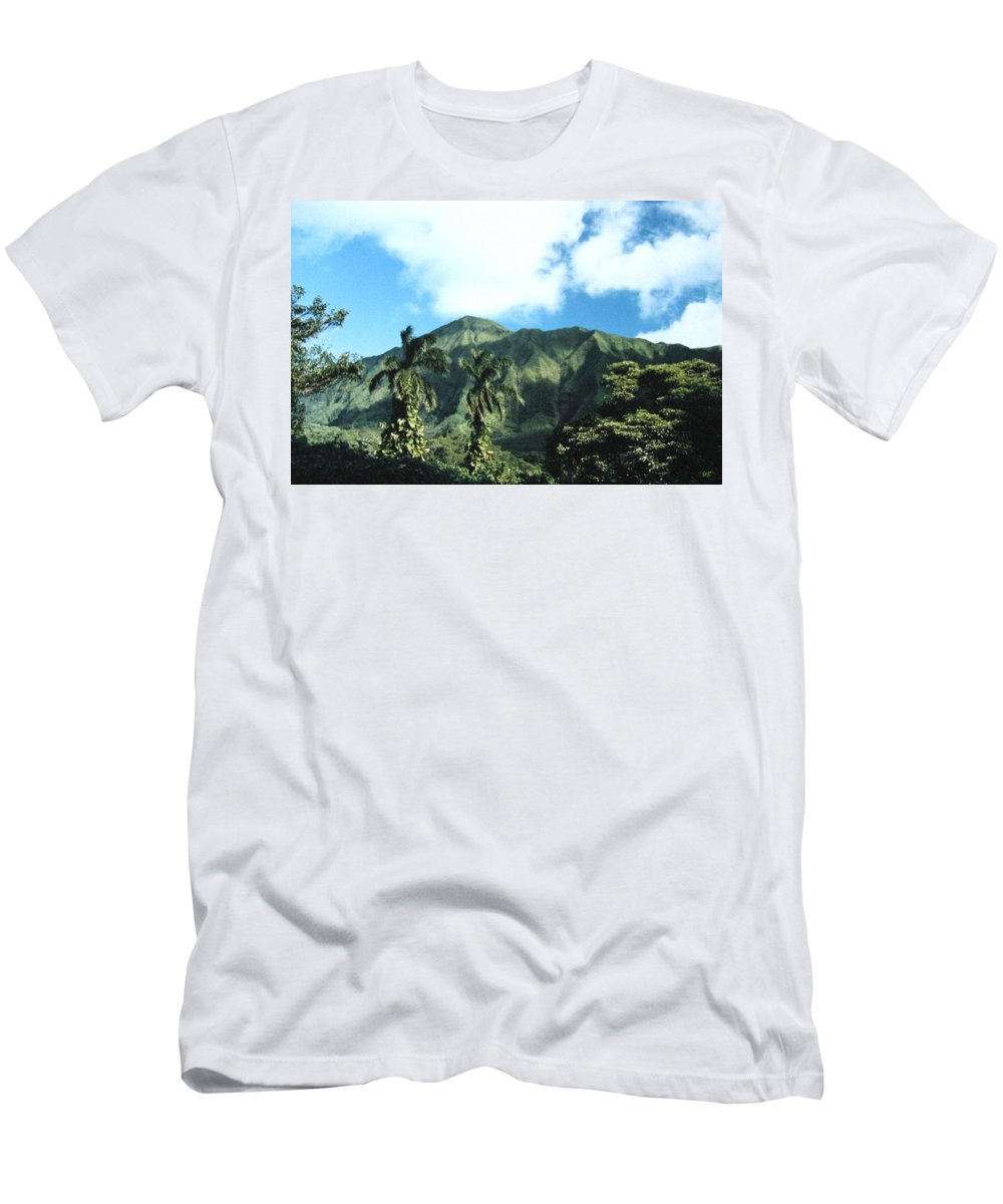 1986 Men's T-Shirt (Athletic Fit) featuring the photograph Nuuanu Pali by Will Borden