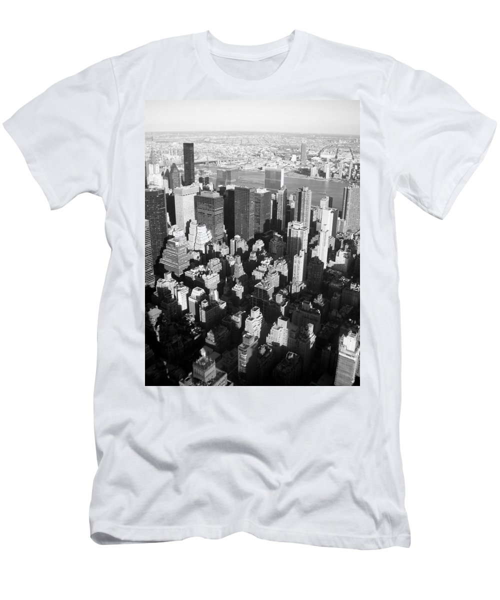 Nyc Men's T-Shirt (Athletic Fit) featuring the photograph Nyc Bw by Anita Burgermeister