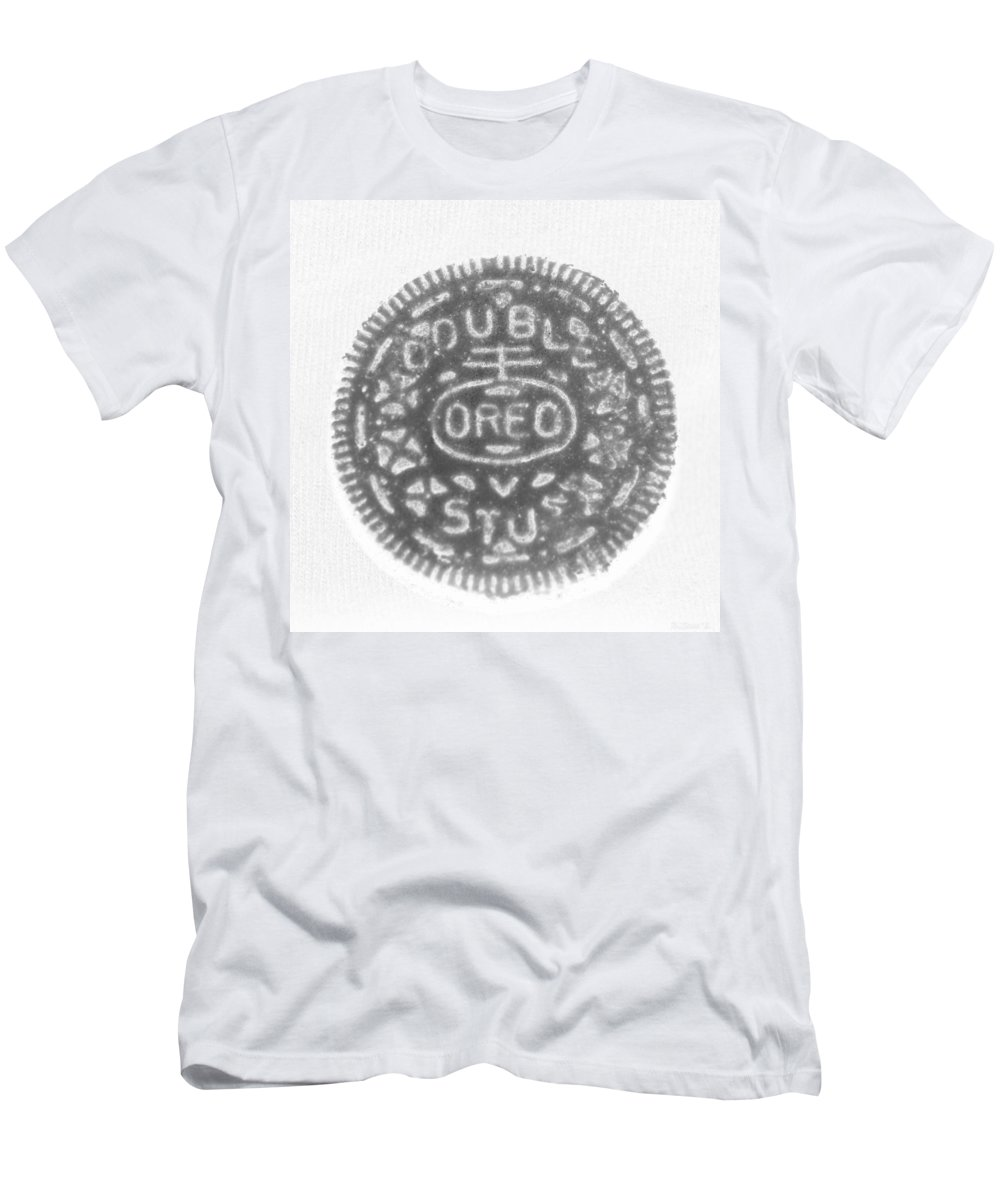 Oreo Men's T-Shirt (Athletic Fit) featuring the photograph O R E O In Black Negative by Rob Hans