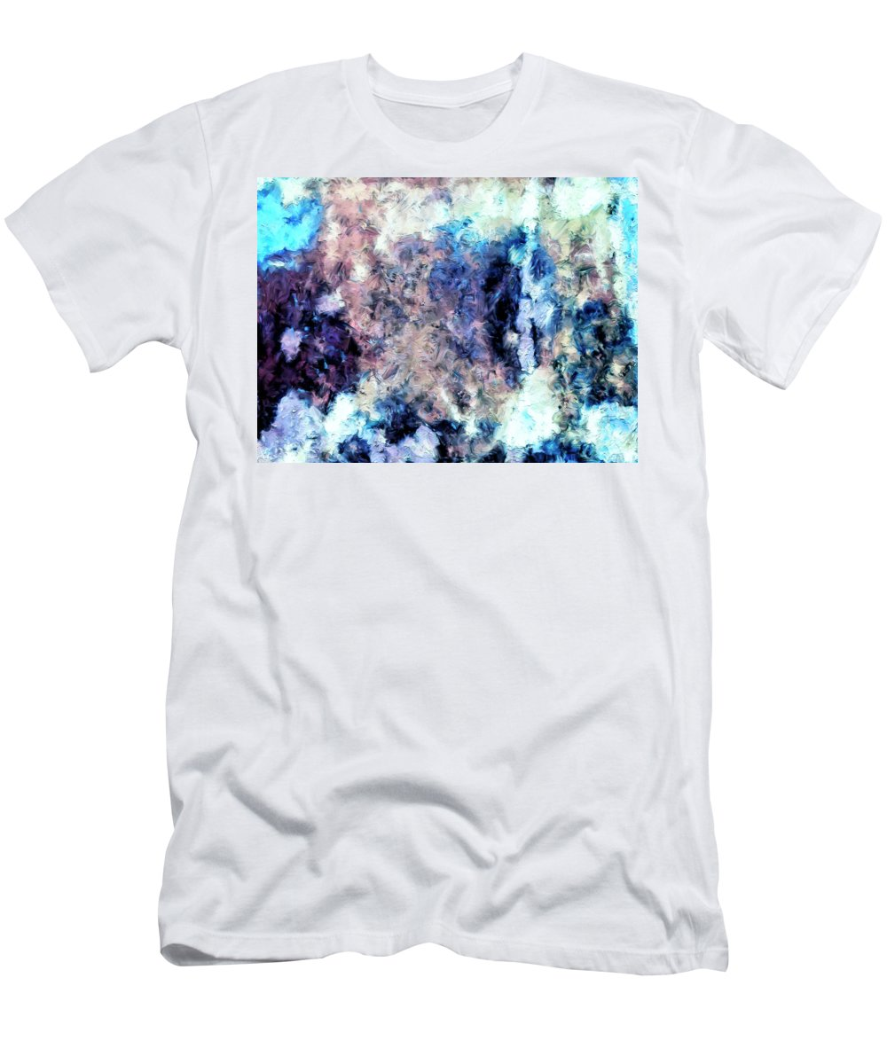 Abstract Men's T-Shirt (Athletic Fit) featuring the painting Obscured By Clouds by Dominic Piperata