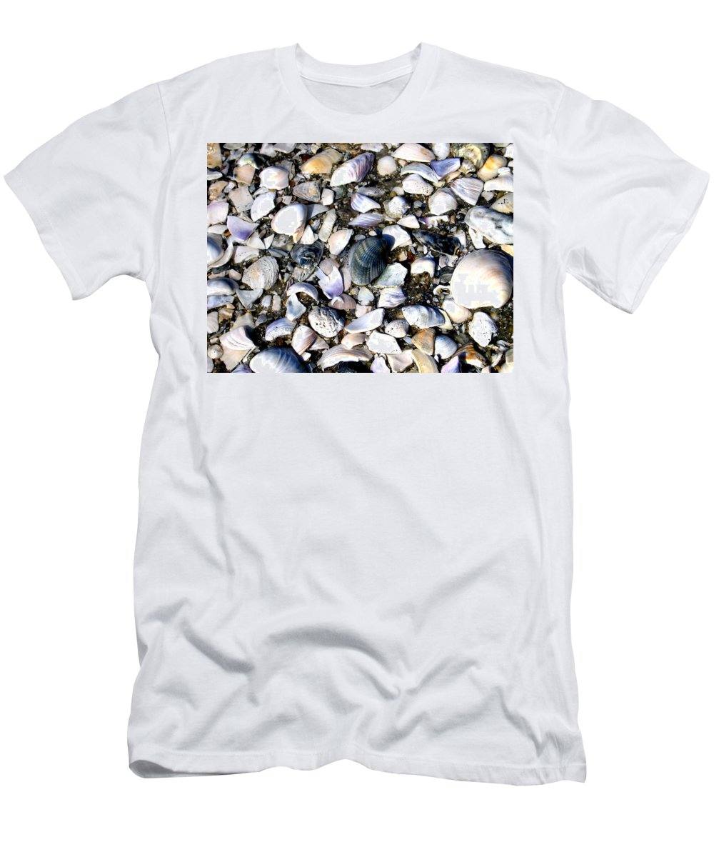 Ocracoke Men's T-Shirt (Athletic Fit) featuring the photograph Ocracoke Shells by Wayne Potrafka