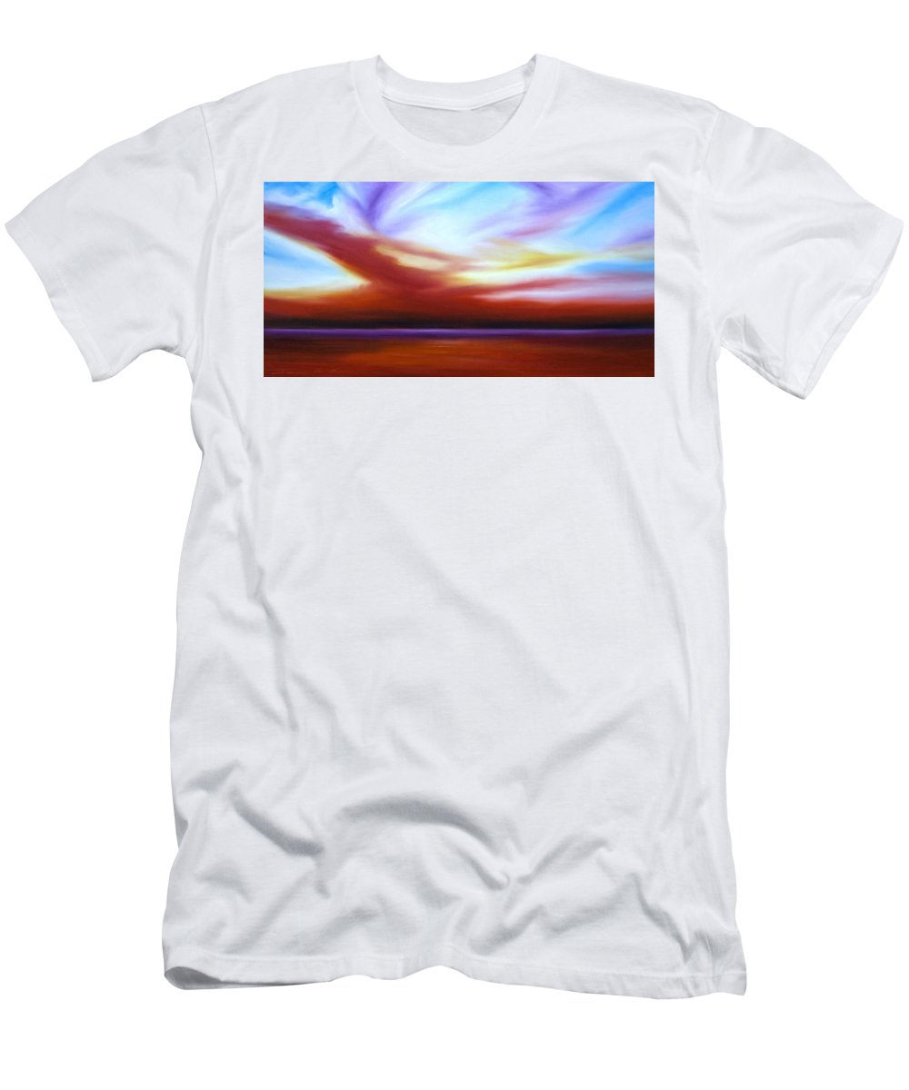 Skyscape Men's T-Shirt (Athletic Fit) featuring the painting October Sky IIi by James Christopher Hill