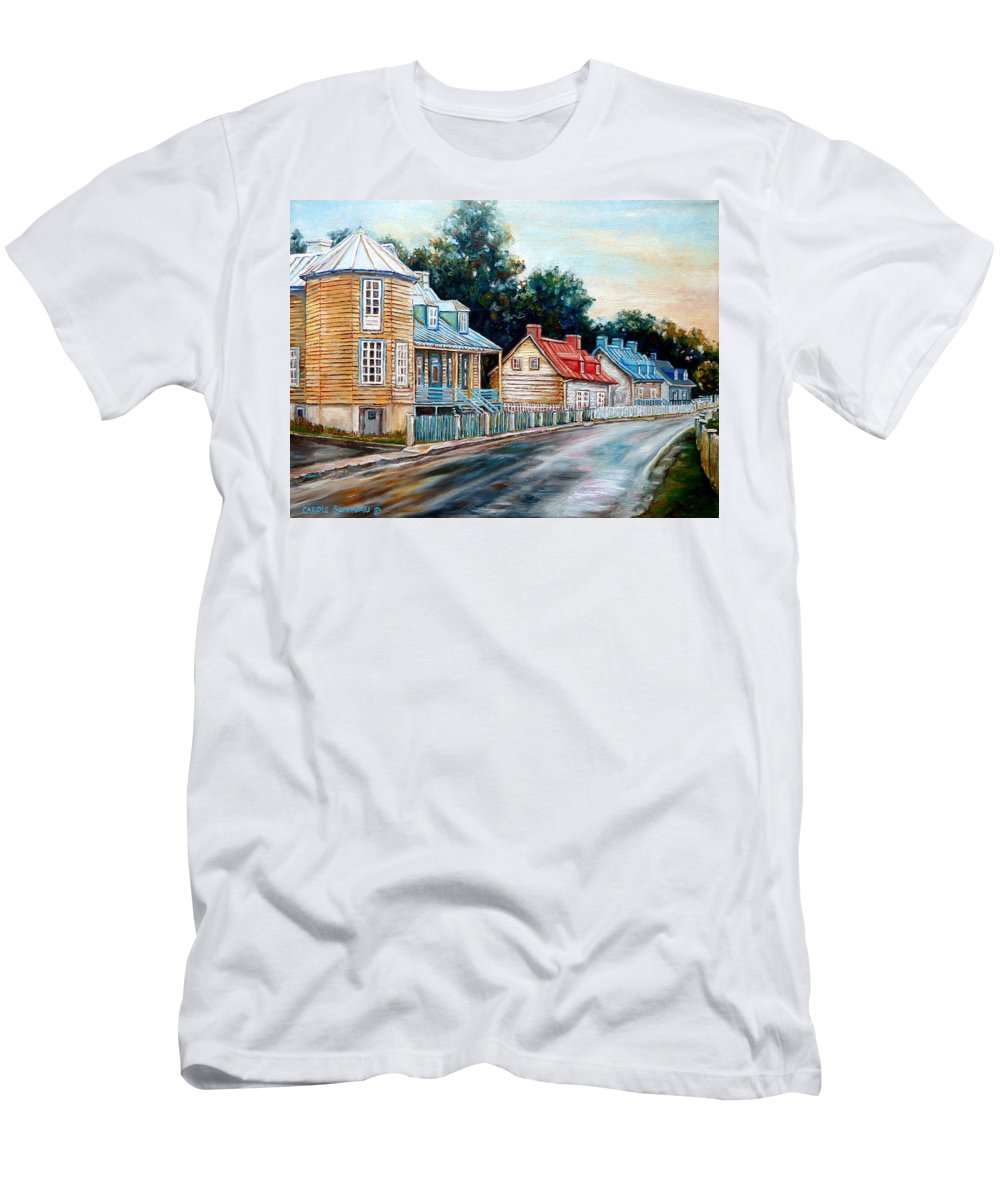Ile D'oleans Men's T-Shirt (Athletic Fit) featuring the painting Oh What A Beautiful Morning by Carole Spandau