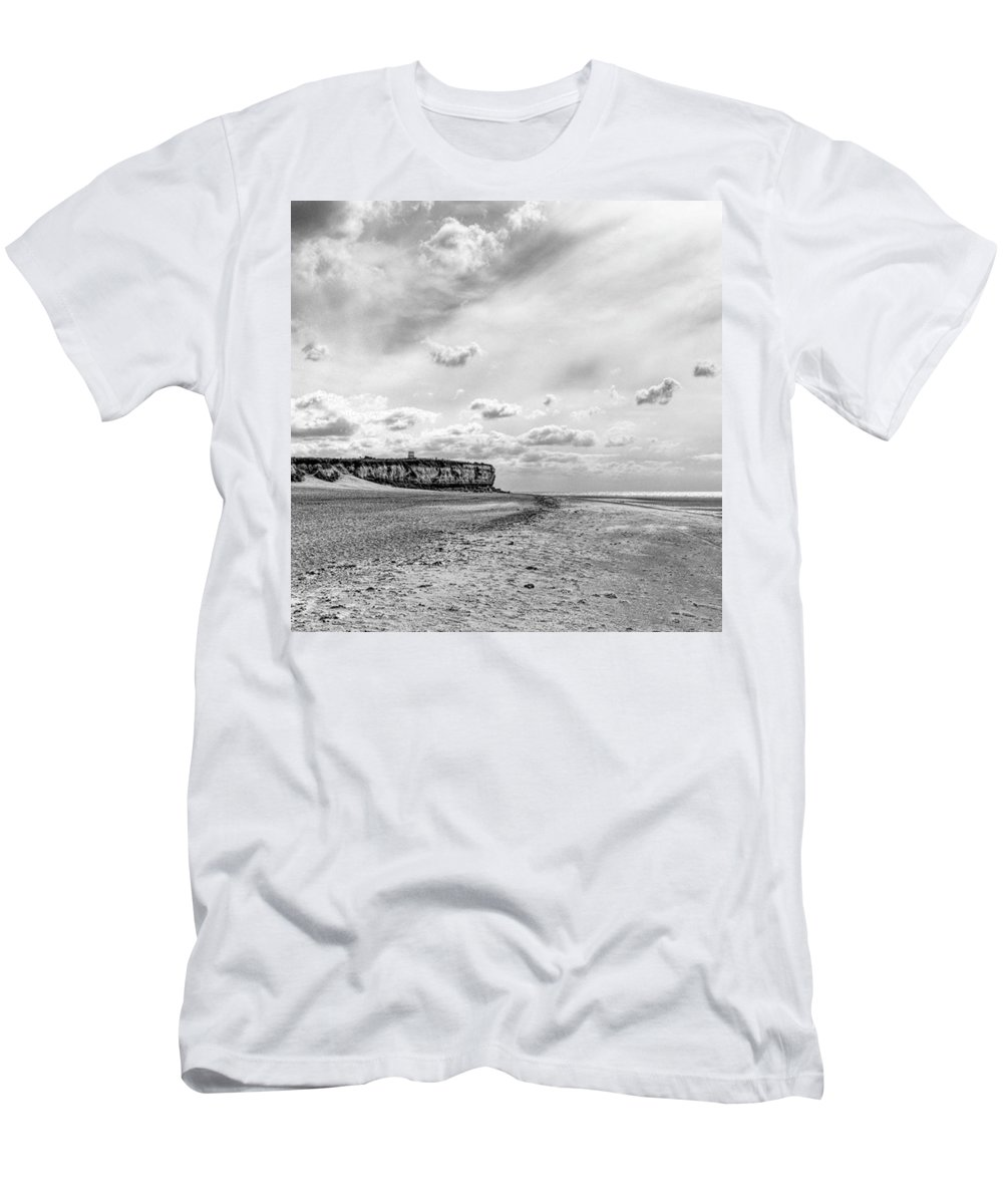 Eastanglia T-Shirt featuring the photograph Old Hunstanton Beach, Norfolk by John Edwards