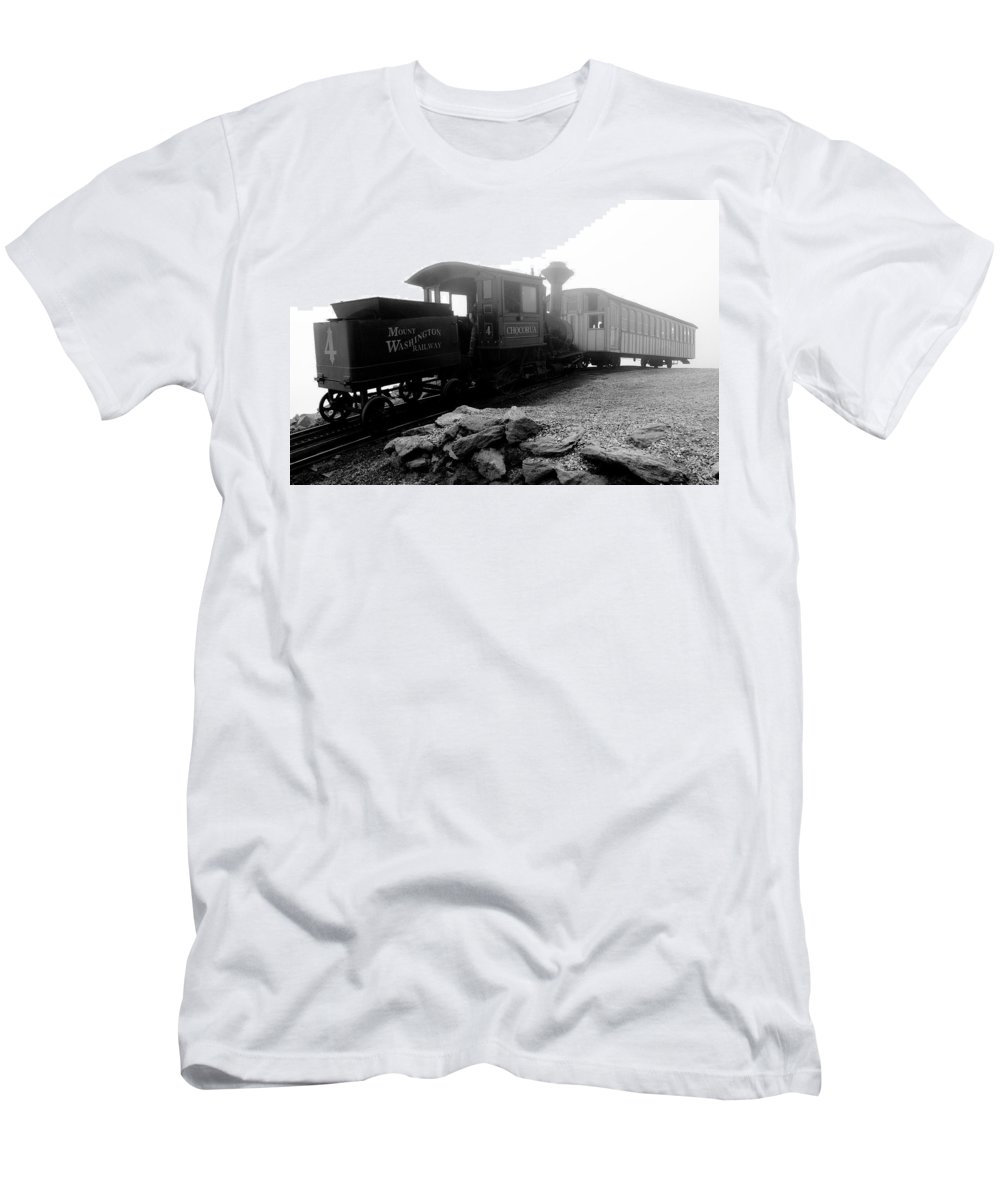 Train Men's T-Shirt (Athletic Fit) featuring the photograph Old Locomotive by Sebastian Musial