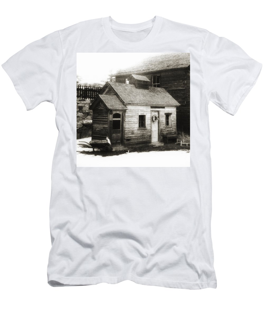 Infrared Men's T-Shirt (Athletic Fit) featuring the photograph Old Miner by Marilyn Hunt