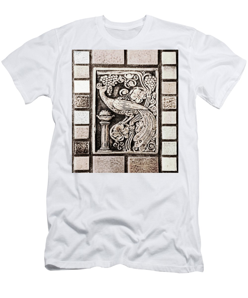 Americana Men's T-Shirt (Athletic Fit) featuring the photograph Old Theater Tilework by Marilyn Hunt