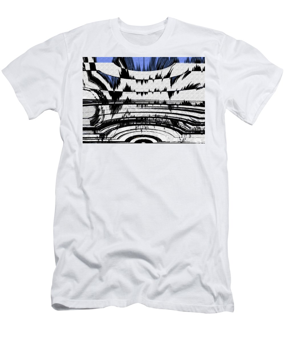 Abstract Men's T-Shirt (Athletic Fit) featuring the digital art Olympics Abstract by Lenore Senior