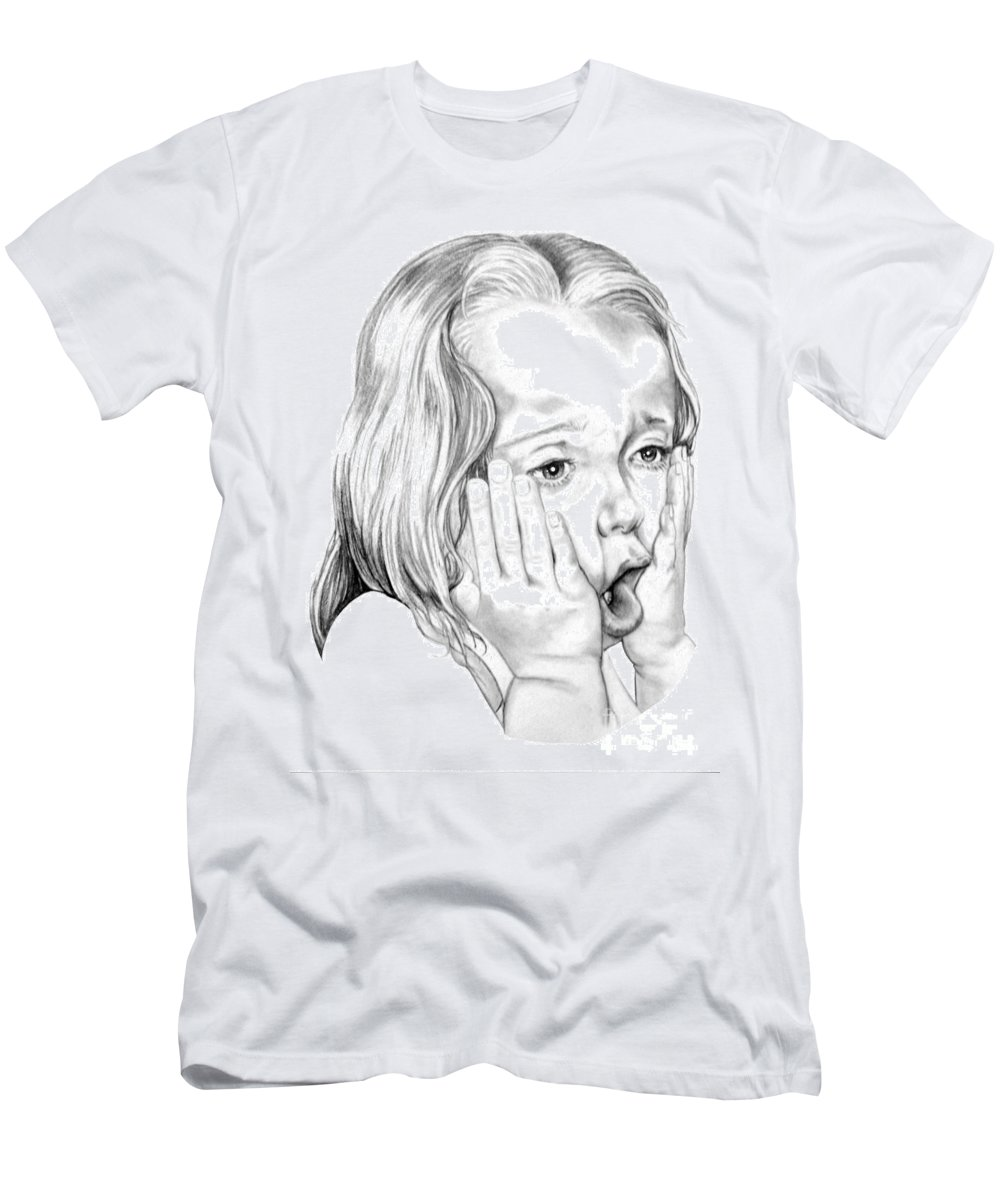 Portrait Men's T-Shirt (Athletic Fit) featuring the drawing OMG by Murphy Elliott