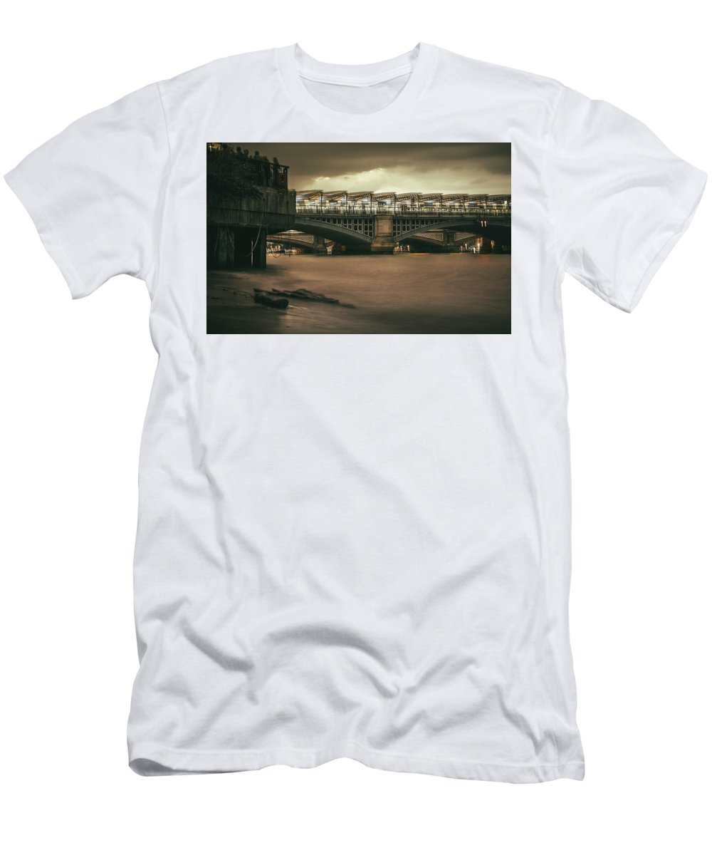 Long Exposure Men's T-Shirt (Athletic Fit) featuring the photograph On The Beach? - 2016/l/04 by Franklin Ambo