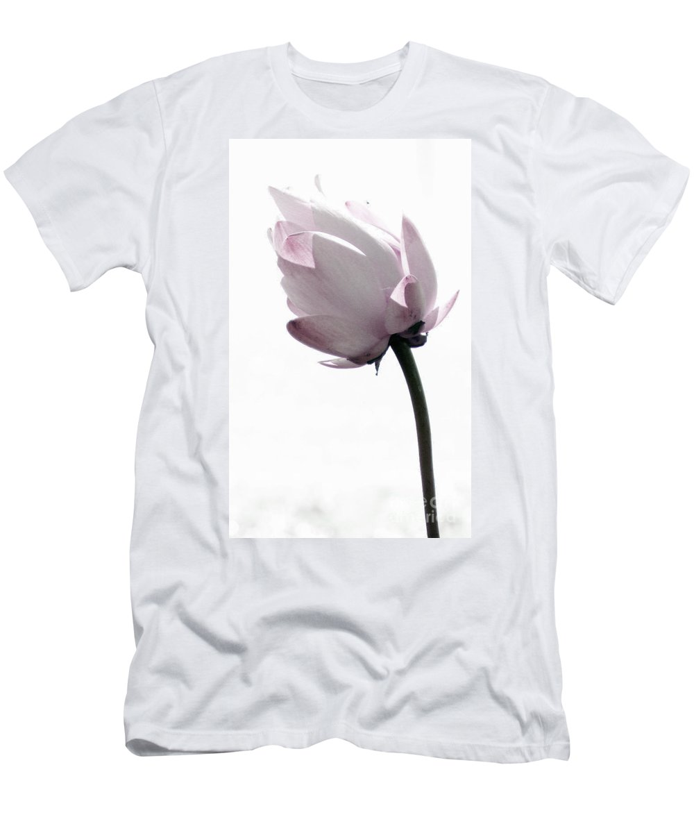 Lotus Men's T-Shirt (Athletic Fit) featuring the photograph On The Inside by Amanda Barcon