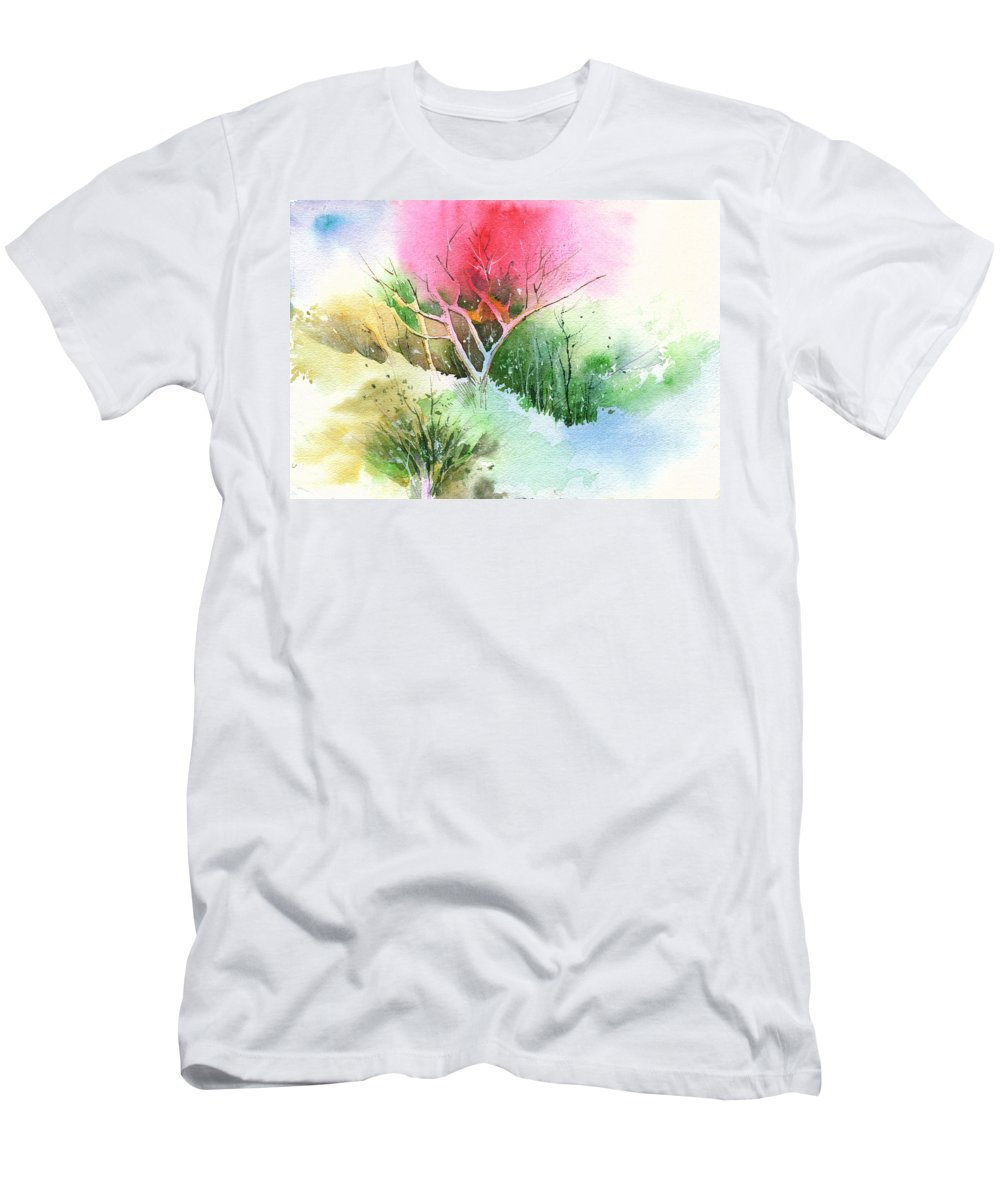 Greenery Men's T-Shirt (Athletic Fit) featuring the painting One For My Master by Anil Nene