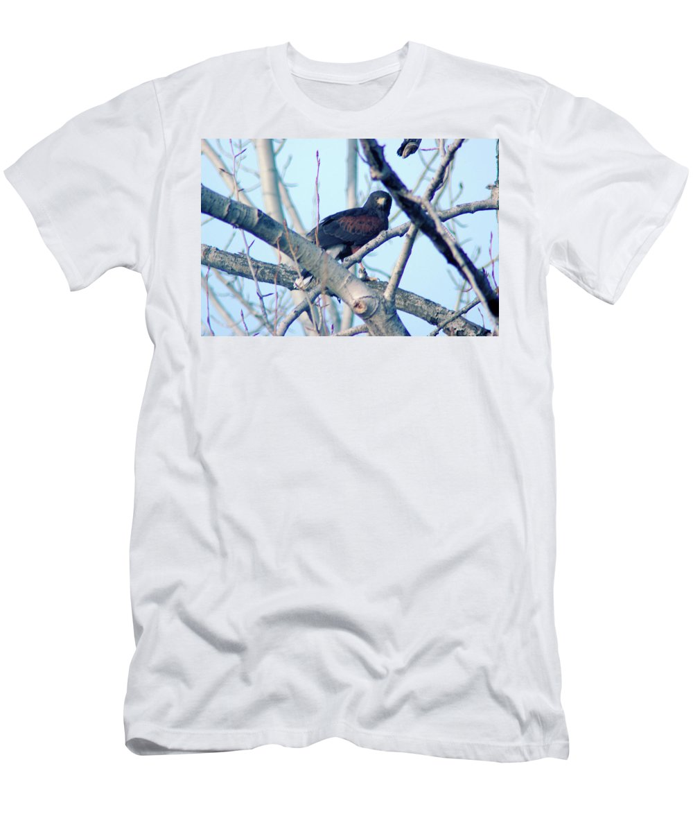 Fowl Men's T-Shirt (Athletic Fit) featuring the photograph One That Got Away by Jeff Swan