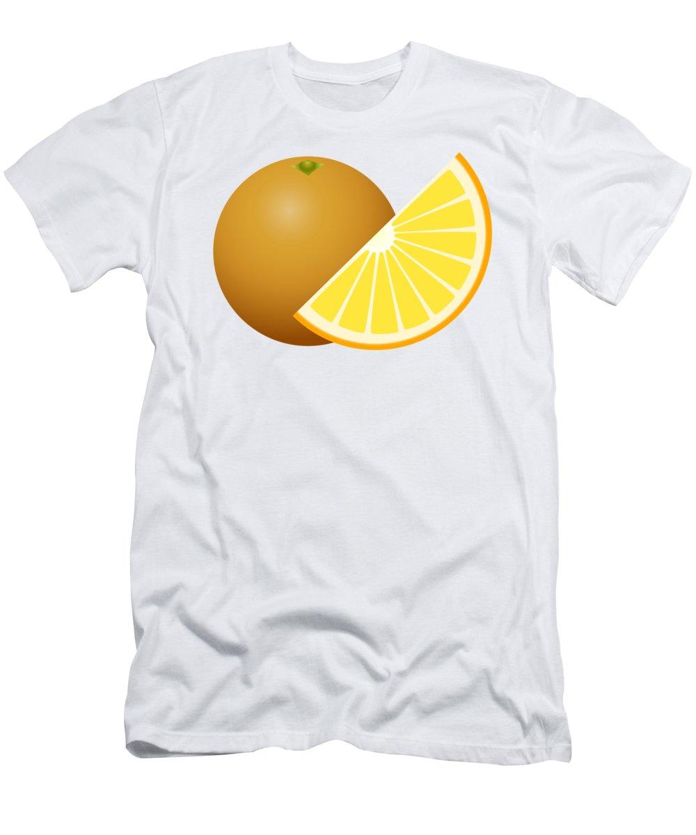 3d Men's T-Shirt (Athletic Fit) featuring the digital art Orange Fruit by Miroslav Nemecek
