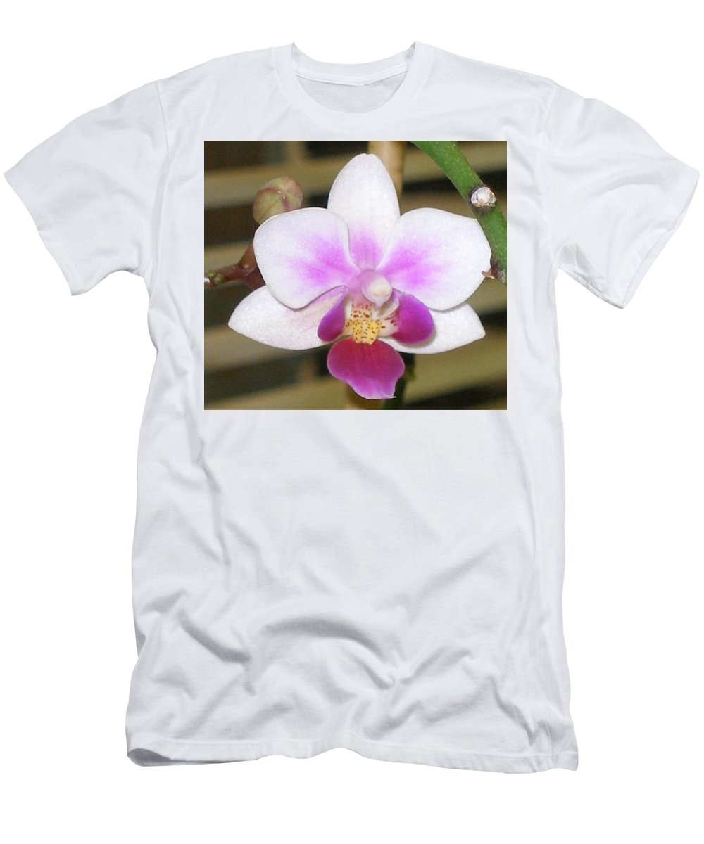 Purple Men's T-Shirt (Athletic Fit) featuring the photograph Orchid Explosion by Maria Bonnier-Perez