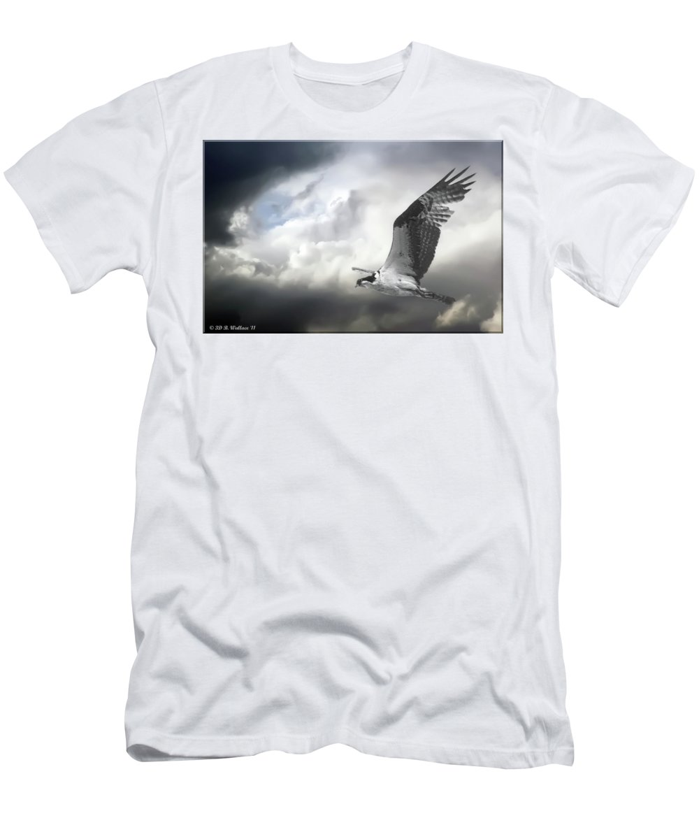 2d Men's T-Shirt (Athletic Fit) featuring the photograph Osprey In Flight by Brian Wallace