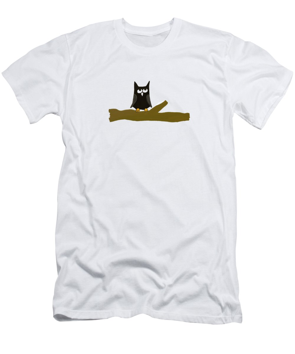 Out On A Limb Men's T-Shirt (Athletic Fit) featuring the painting Out On A Limb by Priscilla Wolfe