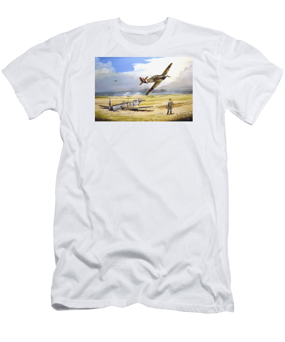 Painting Men's T-Shirt (Athletic Fit) featuring the painting Outgunned by Marc Stewart