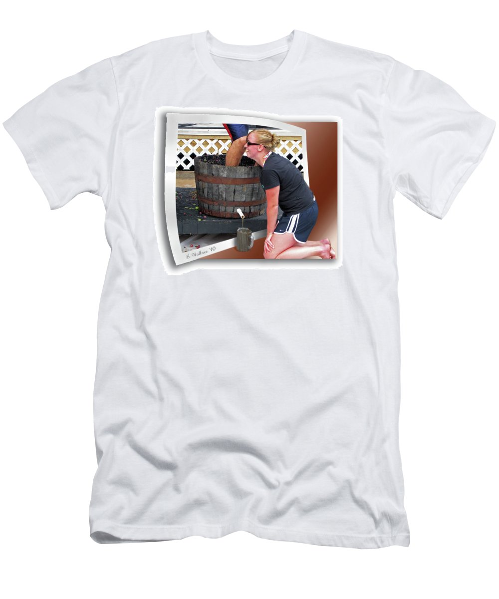 2d Men's T-Shirt (Athletic Fit) featuring the photograph Over A Barrel by Brian Wallace