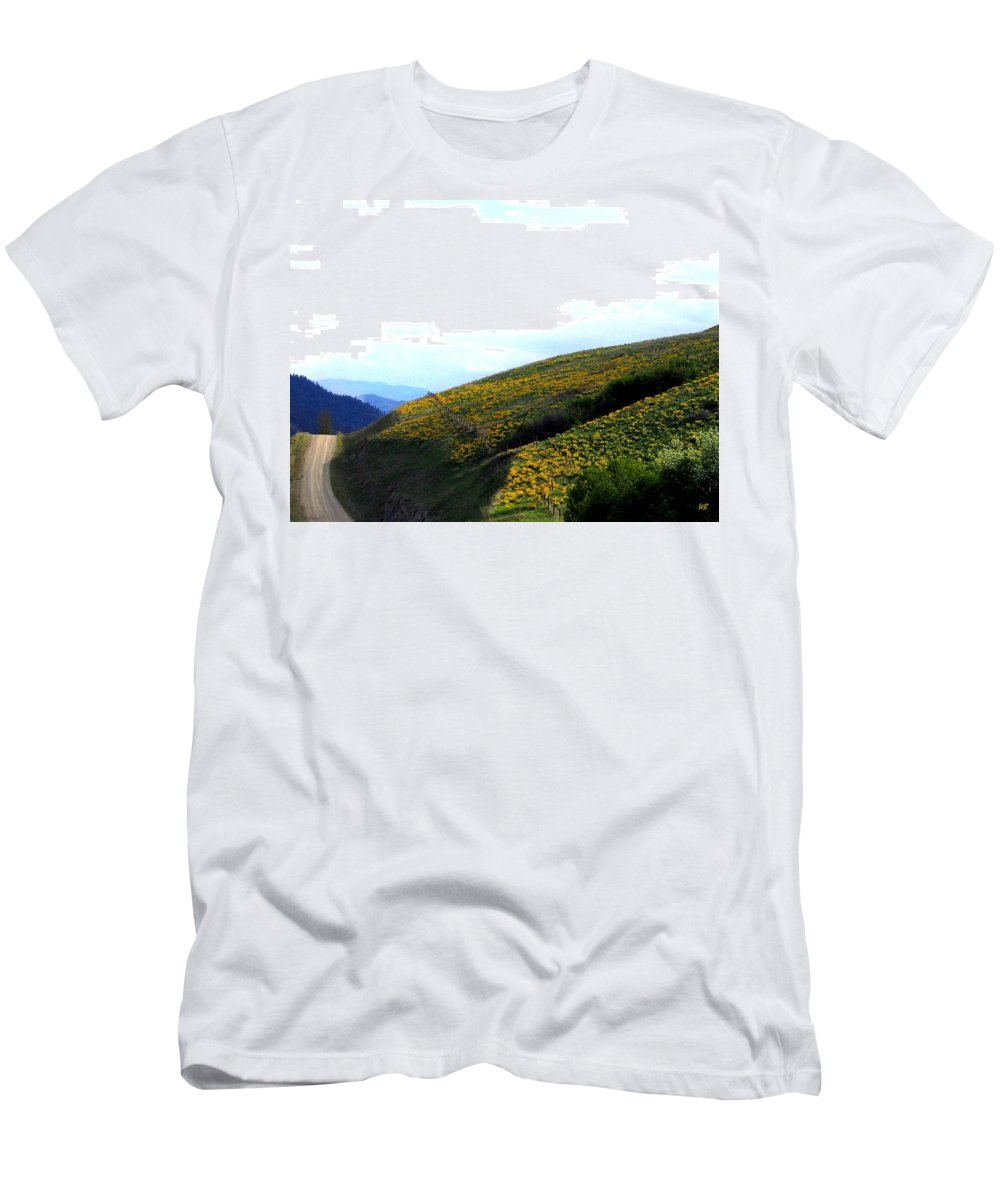 Hills Men's T-Shirt (Athletic Fit) featuring the photograph Over Hill And Dale by Will Borden