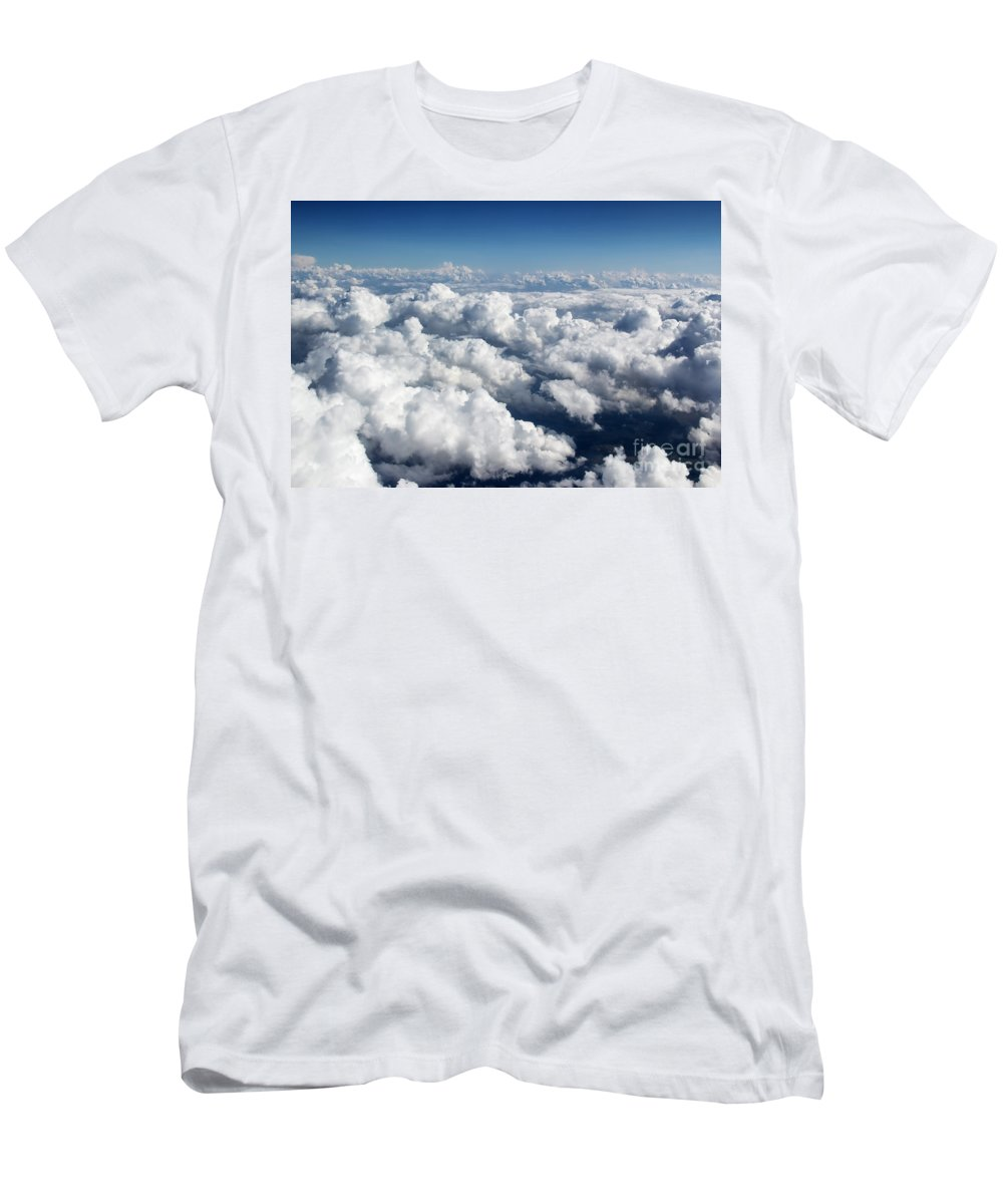 Over The Clouds Men's T-Shirt (Athletic Fit) featuring the photograph Over The Heavenly Clouds by Mariola Bitner
