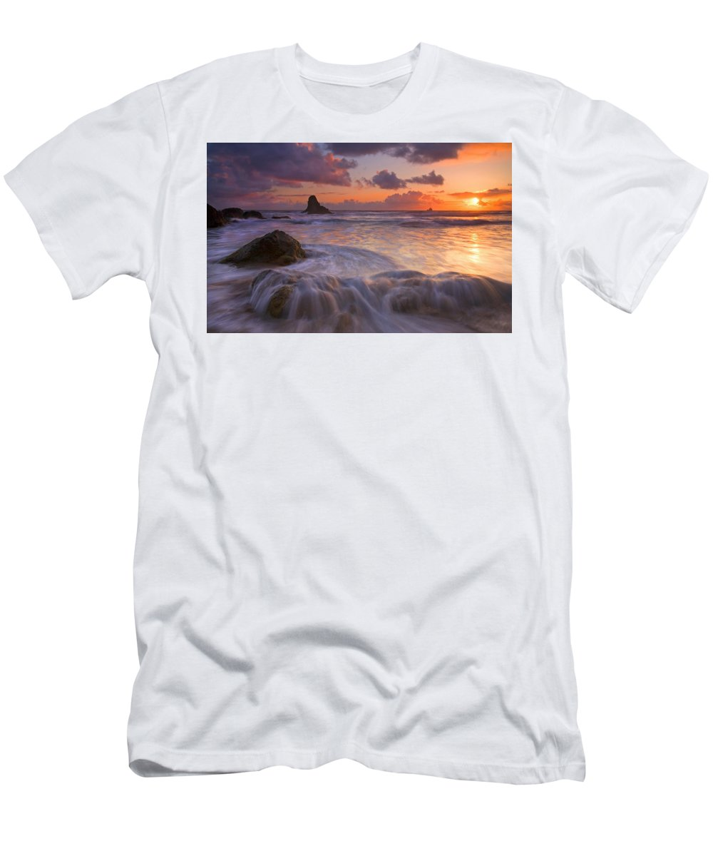 Sunset Men's T-Shirt (Athletic Fit) featuring the photograph Overcome by Mike Dawson