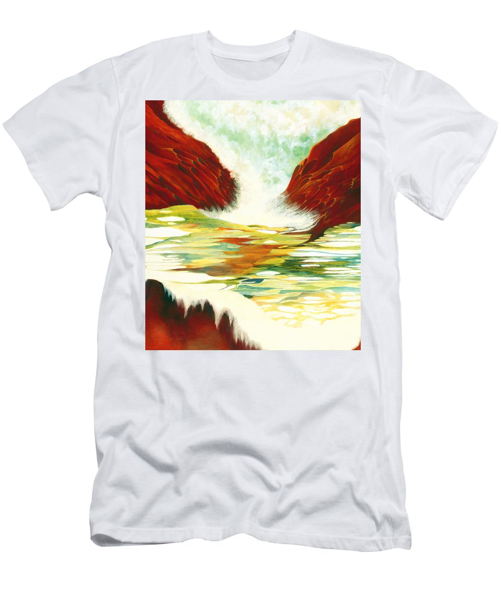 Oil Men's T-Shirt (Athletic Fit) featuring the painting Overflowing by Peggy Guichu