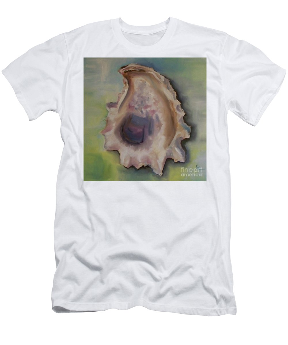 Kristine Kainer Men's T-Shirt (Athletic Fit) featuring the painting Oyster Shell by Kristine Kainer
