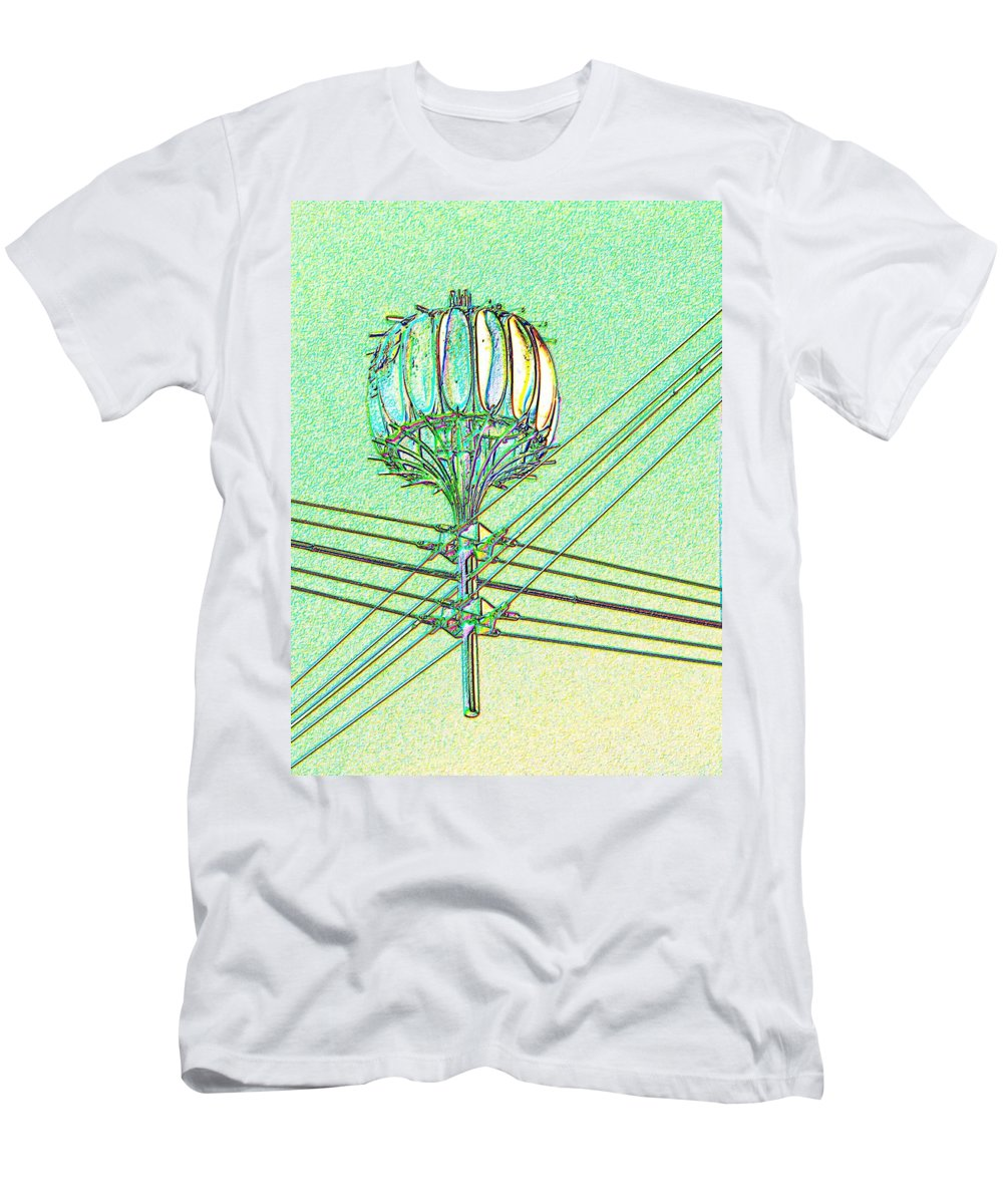 Seattle Men's T-Shirt (Athletic Fit) featuring the digital art Pacific Science Center Lamp by Tim Allen