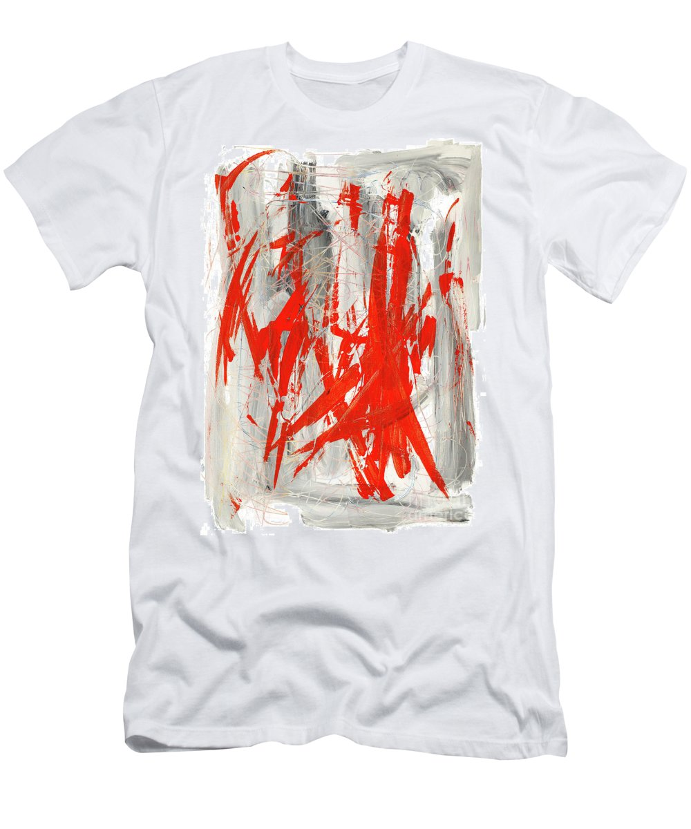 Pain Men's T-Shirt (Athletic Fit) featuring the painting Pain by Bjorn Sjogren