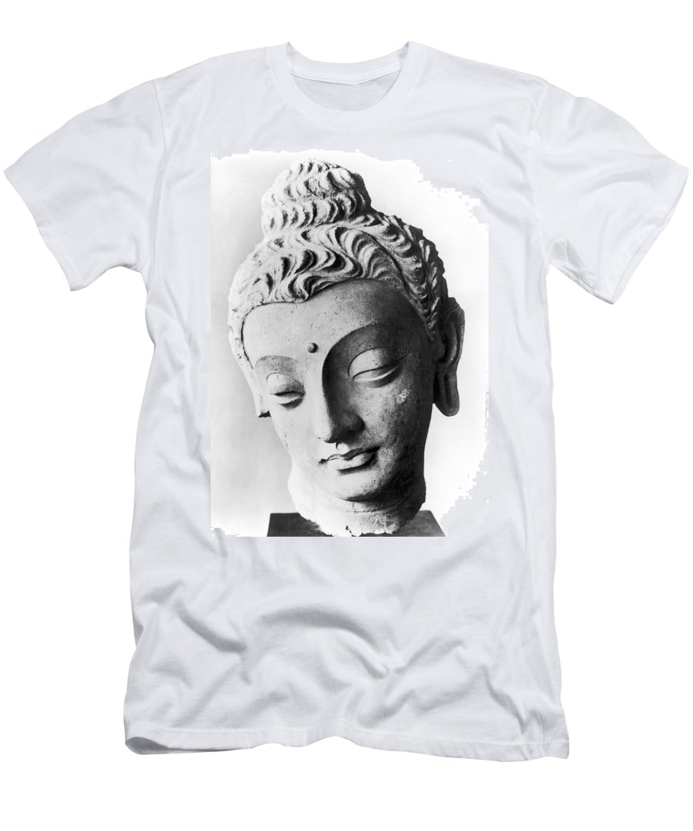 4th Century Men's T-Shirt (Athletic Fit) featuring the photograph Pakistan: Buddha by Granger