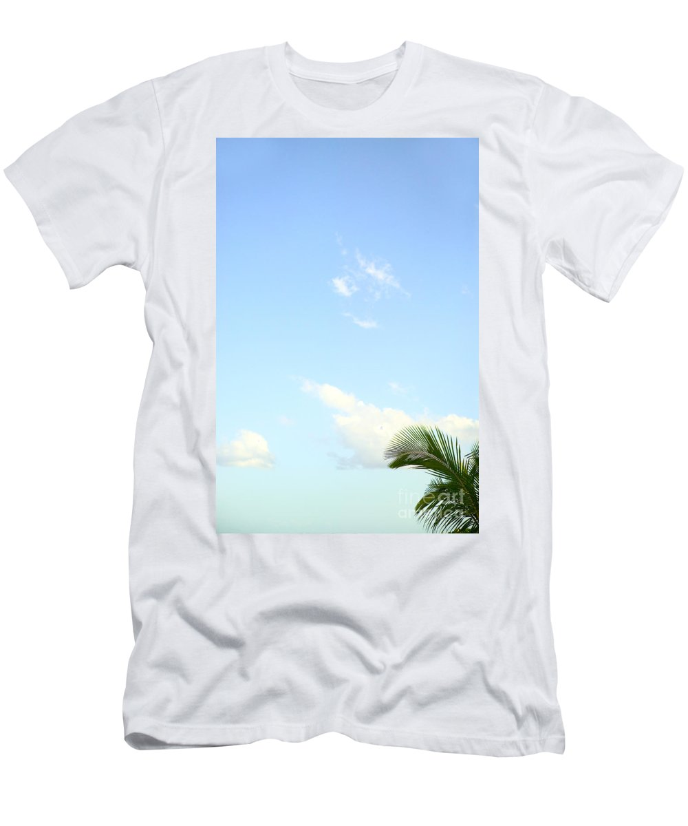 Afternoon Men's T-Shirt (Athletic Fit) featuring the photograph Palm And Sky by Dana Edmunds - Printscapes