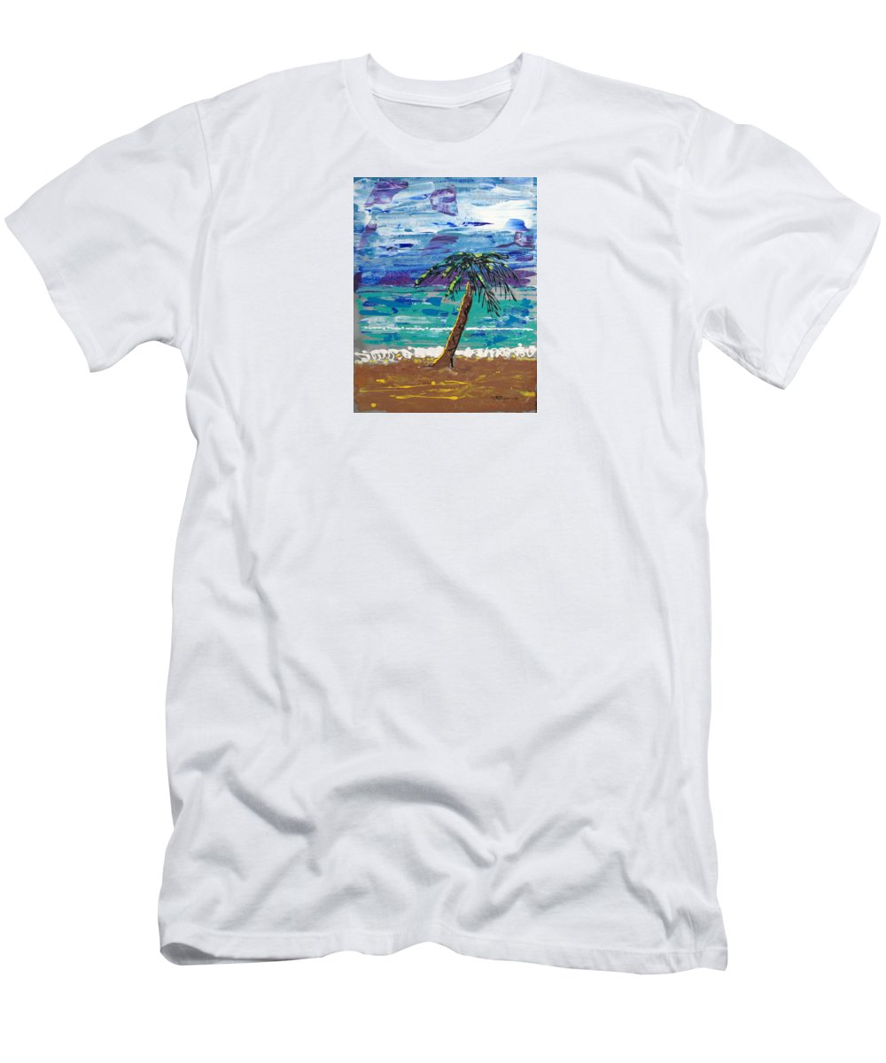 Impressionist Painting Men's T-Shirt (Athletic Fit) featuring the painting Palm Beach by J R Seymour