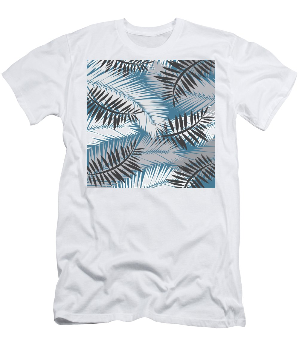 Summer Men's T-Shirt (Athletic Fit) featuring the digital art Palm Trees 10 by Mark Ashkenazi