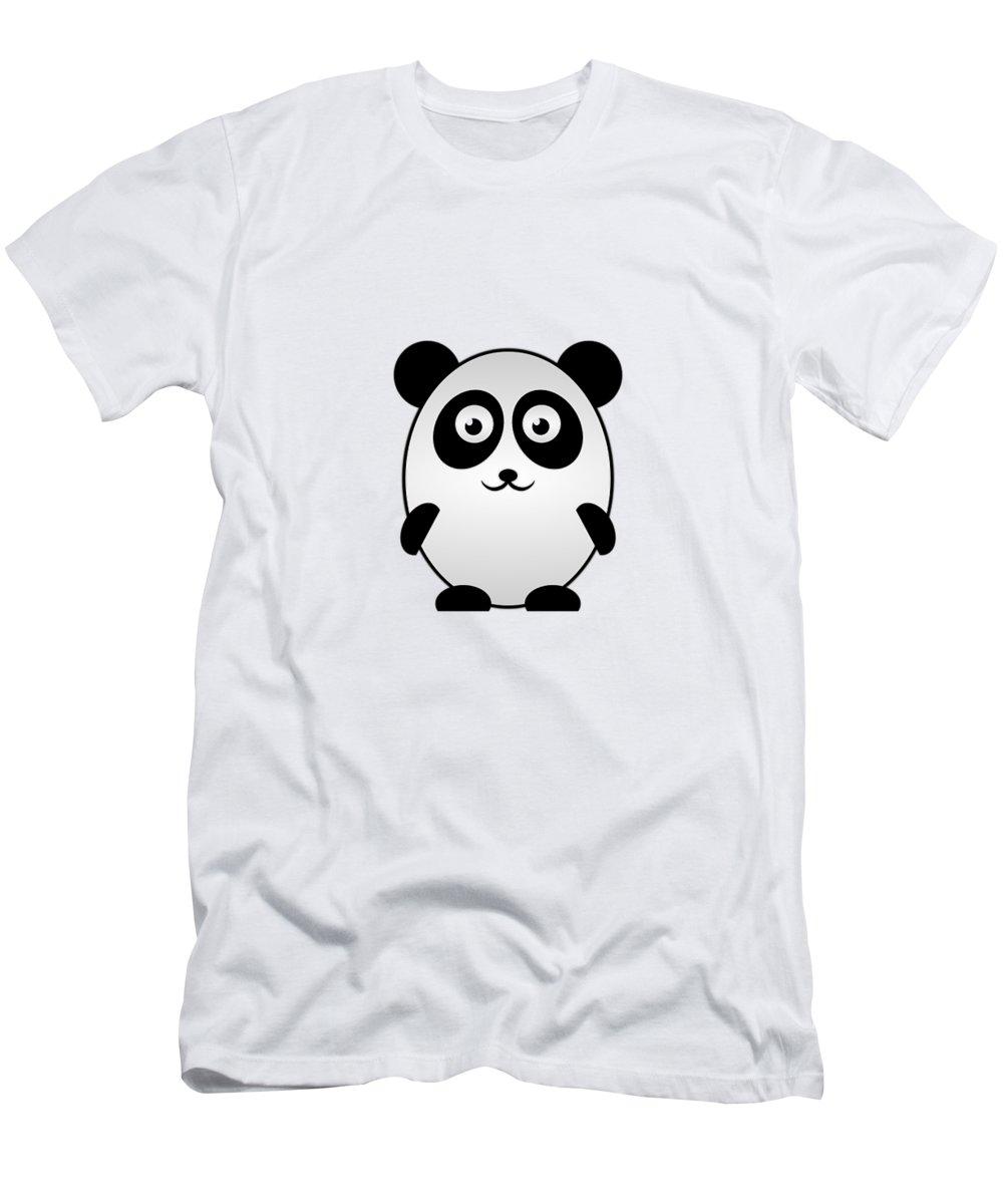 Panda Men's T-Shirt (Athletic Fit) featuring the digital art Panda - Animals - Art For Kids by Anastasiya Malakhova