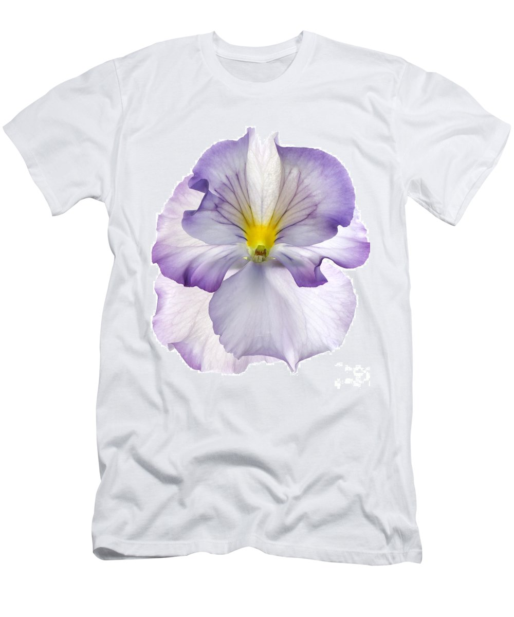 Pansy Genus Viola Men's T-Shirt (Athletic Fit) featuring the photograph Pansy by Tony Cordoza