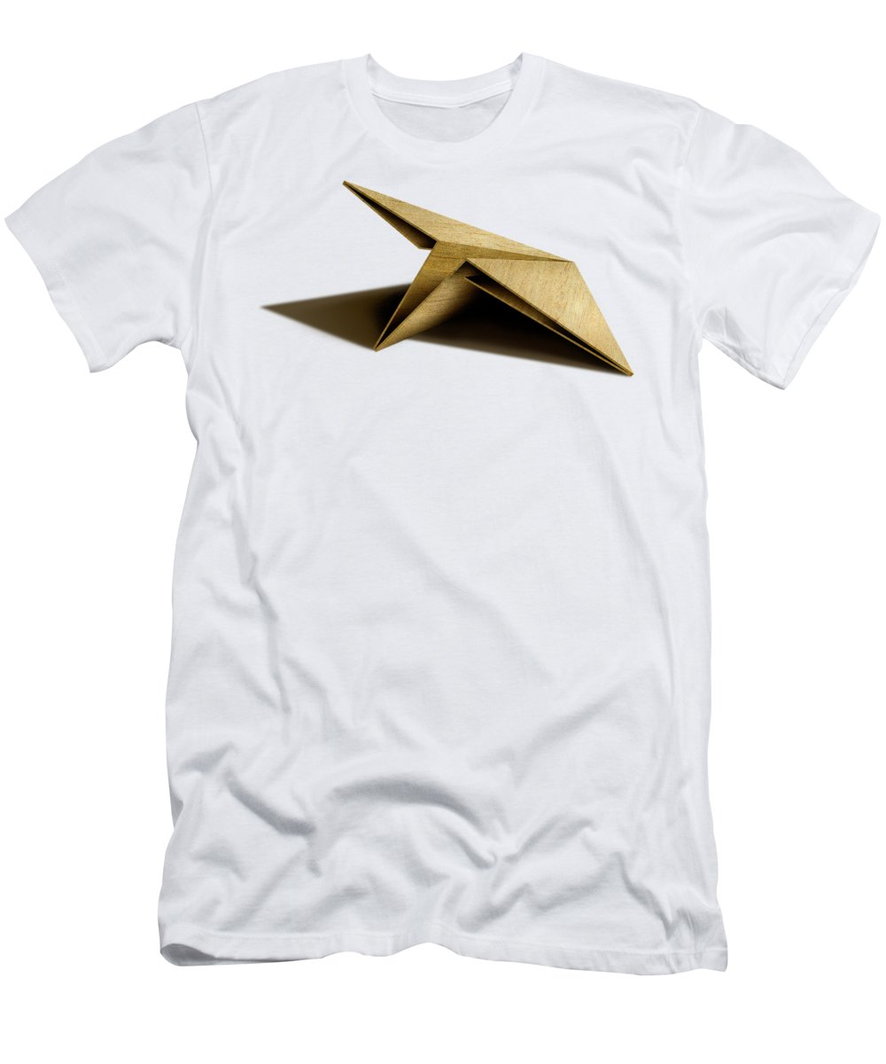 Paper Airplane T-Shirt featuring the photograph Paper Airplanes of Wood 7 by YoPedro