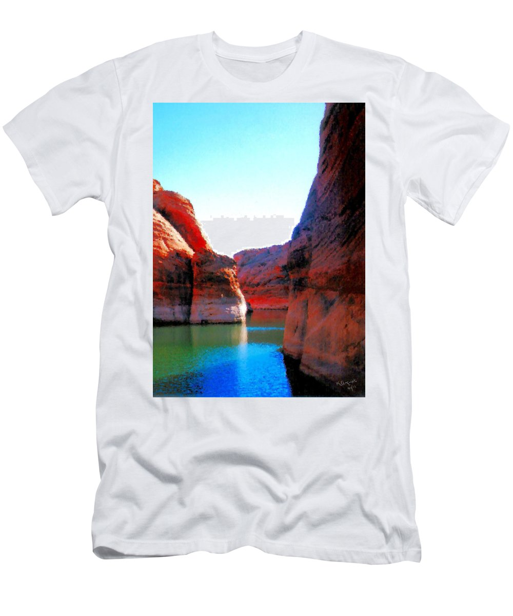 Passage Men's T-Shirt (Athletic Fit) featuring the photograph Passage by Kristin Elmquist
