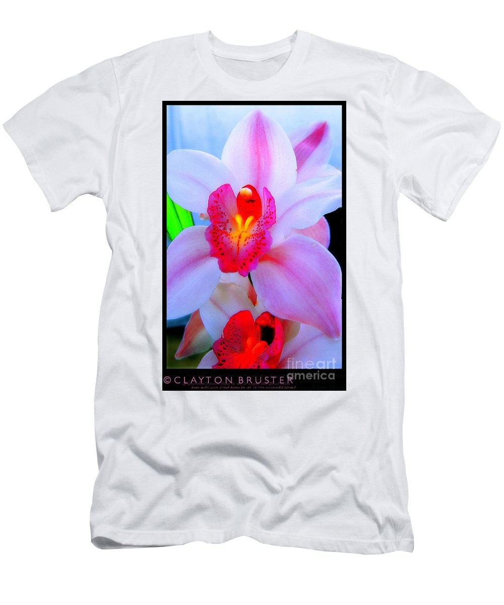 Clay Men's T-Shirt (Athletic Fit) featuring the photograph Pastel Pagentry by Clayton Bruster