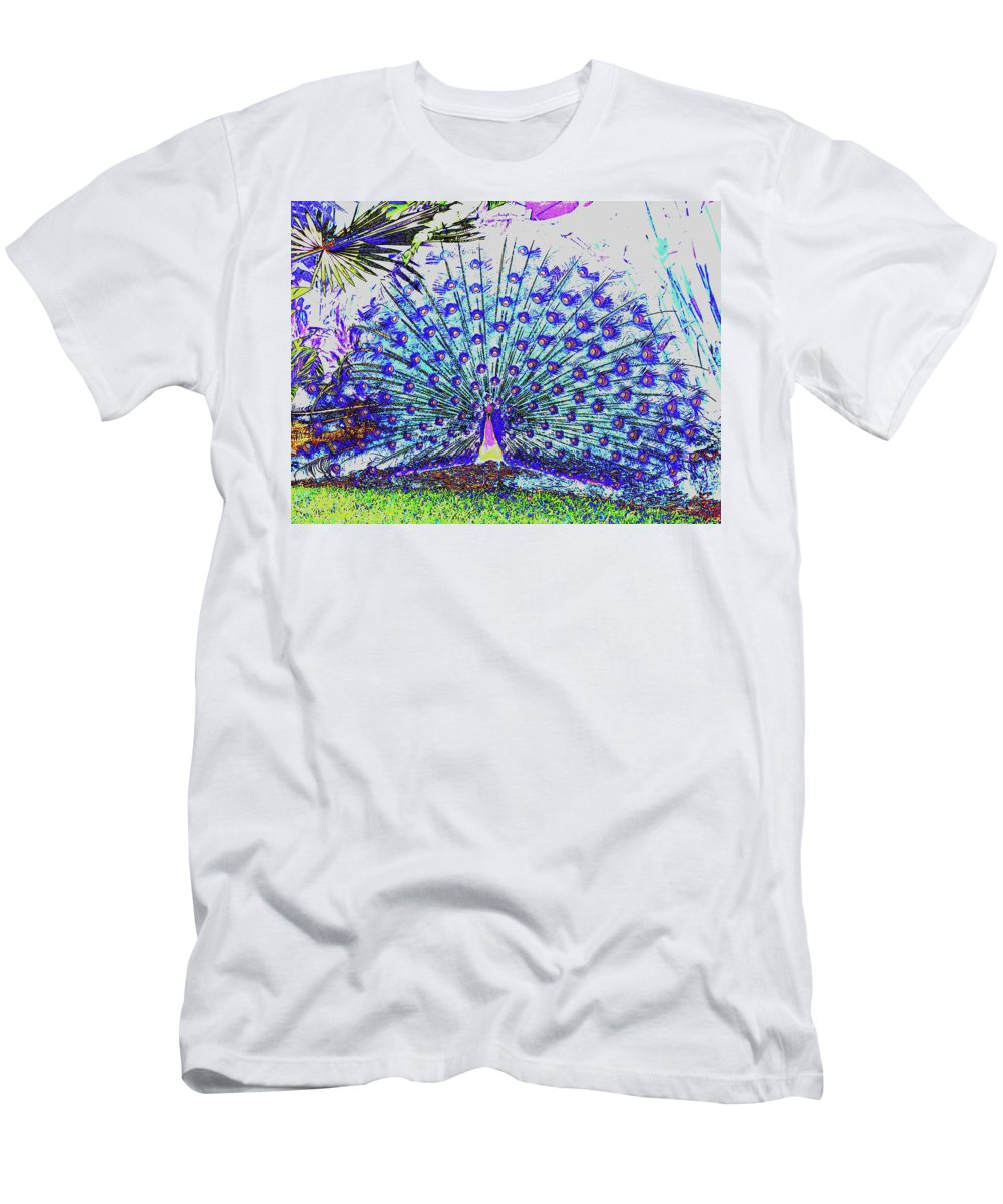 Art Sale Men's T-Shirt (Athletic Fit) featuring the photograph Pastel Peacock by John Irons