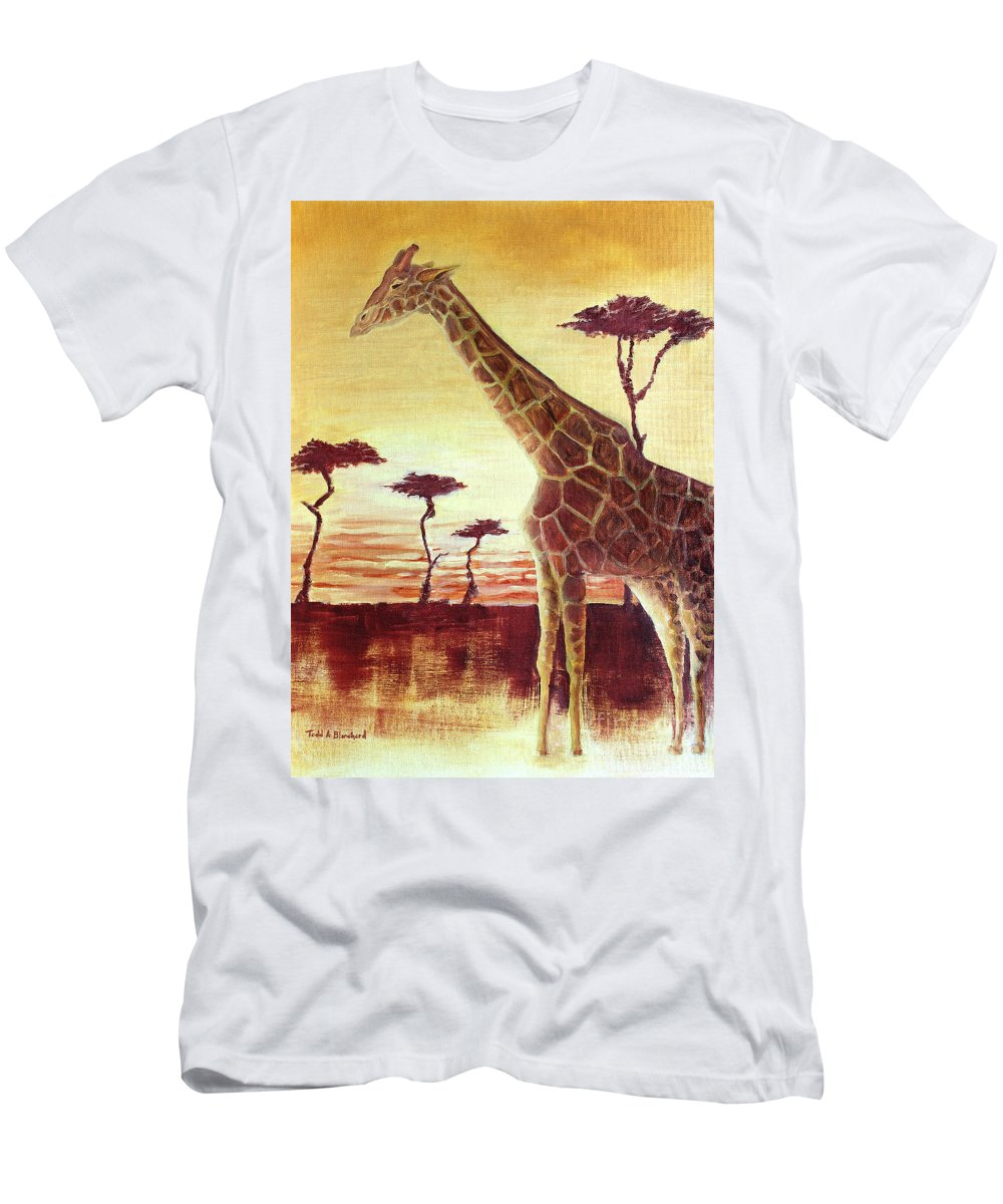 Animal Men's T-Shirt (Athletic Fit) featuring the painting Patches by Todd Blanchard