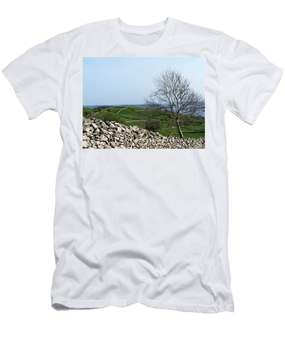 Irish Men's T-Shirt (Athletic Fit) featuring the photograph Patchwork Quilt Lough Corrib Maam Ireland by Teresa Mucha
