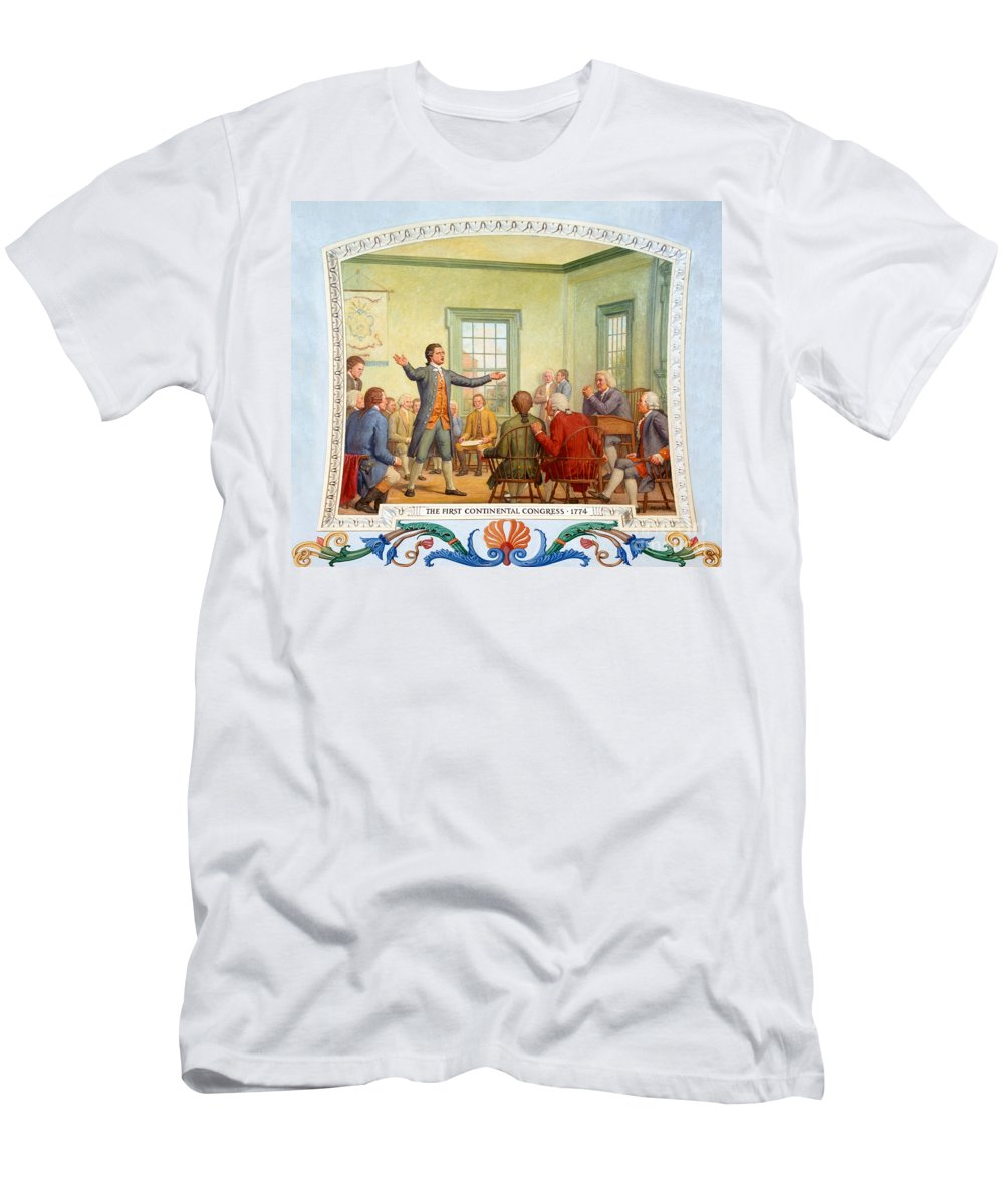 Government Men's T-Shirt (Athletic Fit) featuring the photograph Patrick Henry, First Continental by Science Source