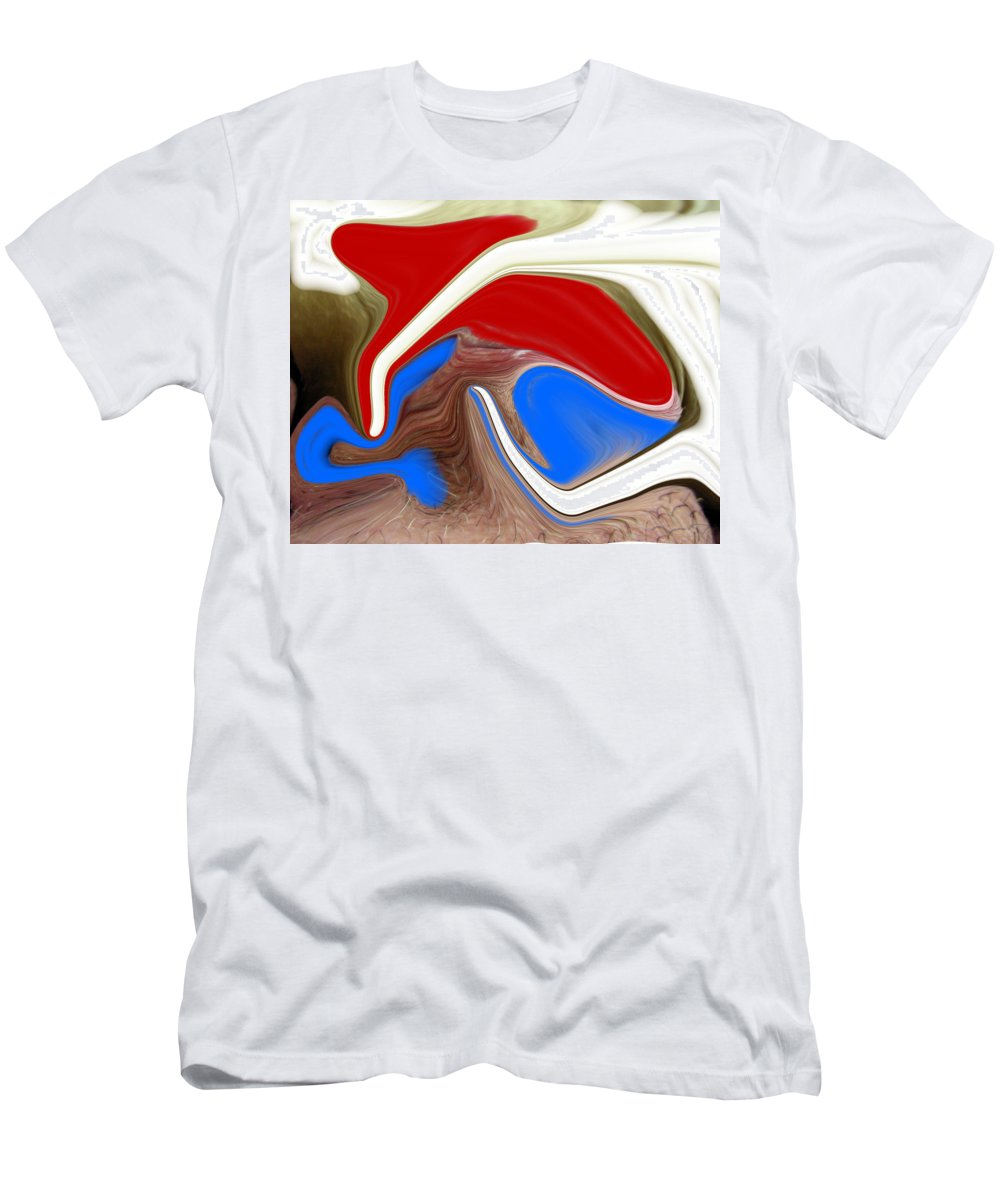 Abstract Men's T-Shirt (Athletic Fit) featuring the photograph Patriot by Allan Hughes