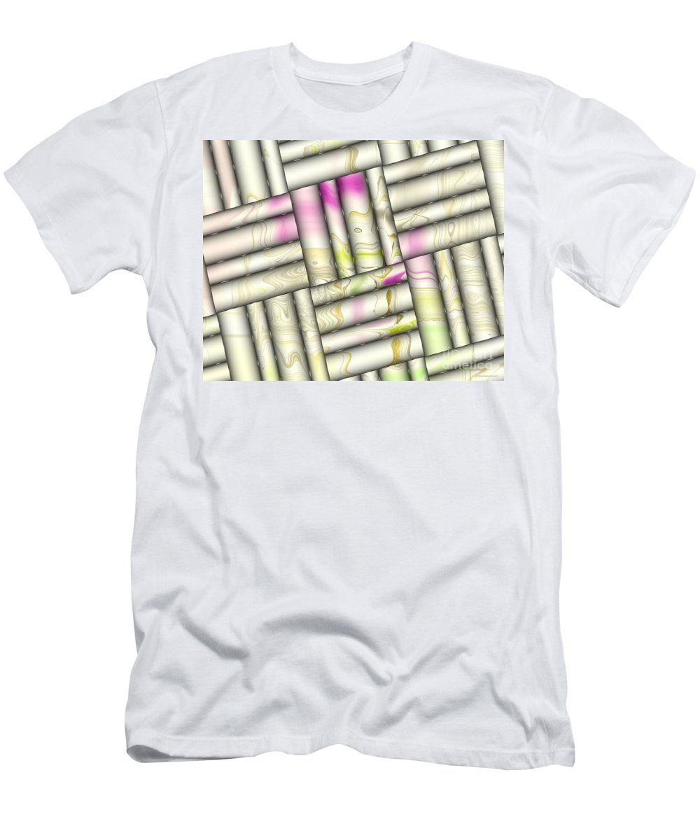 Digital Men's T-Shirt (Athletic Fit) featuring the digital art Pattern Tiles Abstract by Deborah Benoit