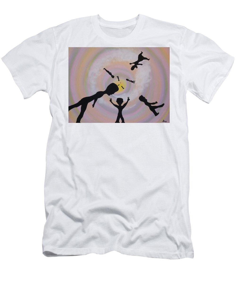 Men's T-Shirt (Athletic Fit) featuring the painting Peace by Dan Schepperly