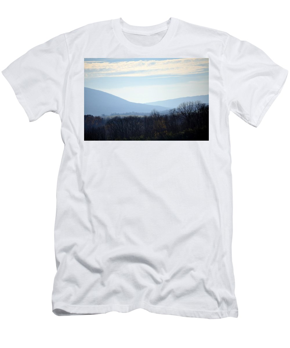 Trees Men's T-Shirt (Athletic Fit) featuring the photograph Peace In The Valley by Trish Tritz
