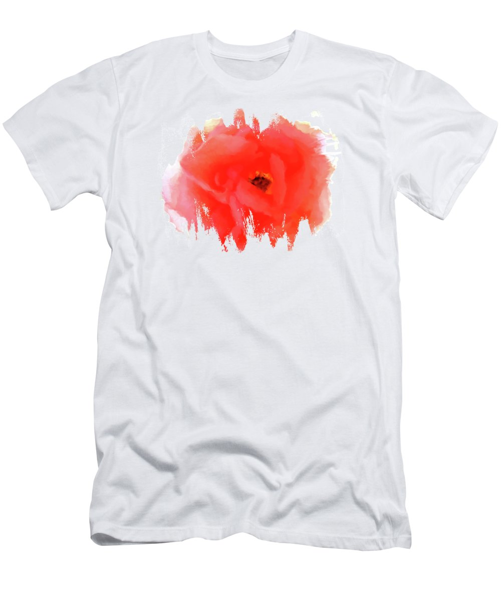 Peachy Keen Men's T-Shirt (Athletic Fit) featuring the digital art Peachy Keen by Anita Faye