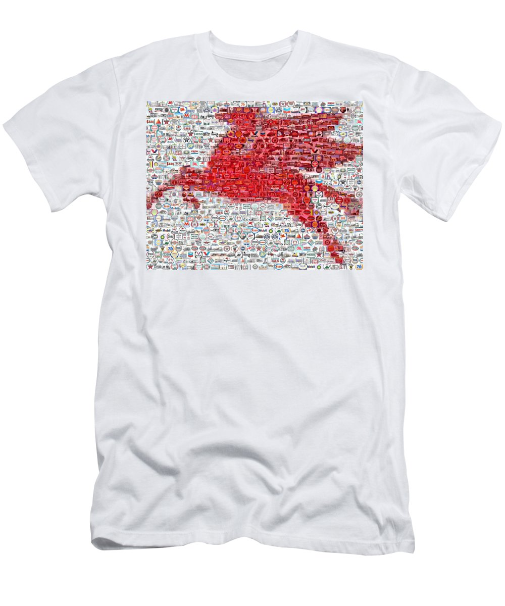 Mobile Men's T-Shirt (Athletic Fit) featuring the digital art Pegasus Mosaic by Paul Van Scott